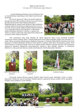 Bahar Çocuk Festivali (16 mayıs 2015, Baltalimanı Japon Bahçesi)