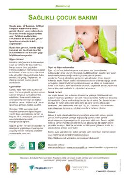 sağlıklı çocuk bakımı