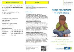 Çocuk ve Ergenlere - LVR-Klinik Bedburg-Hau