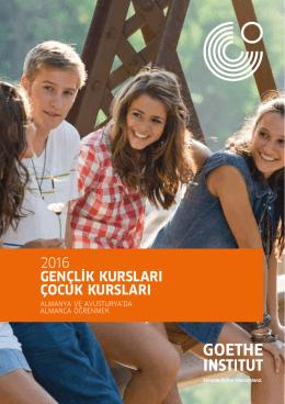 2016 GENÇLİK KURSLARI ÇOCUK KURSLARI - Goethe