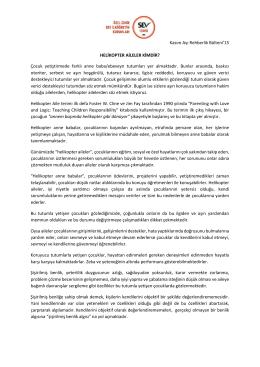 kasım 2015 rehberlik bülteni - Özel İzmir SEV İlköğretim Okulu