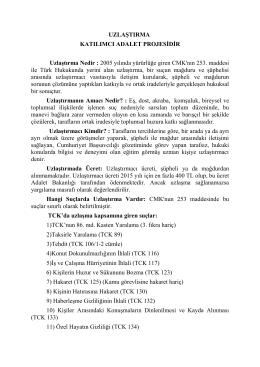 uzlaştırma katılımcı adalet projesidir [18/06/2015]