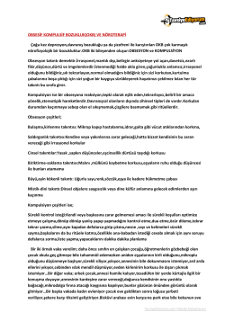 OBSESİF KOMPULSİF BOZUKLUK(OKB) VE