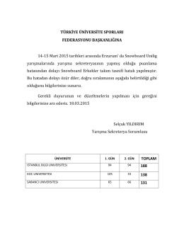 TÜRKİYE ÜNİVERSİTE SPORLARI FEDERASYONU