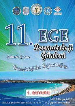 EGE Dermatoloji duyuru - 11. Ege Dermatoloji Günleri
