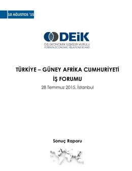türkiye – güney afrika cumhuriyeti iş forumu