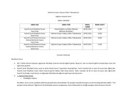 Hakime Erciyas Yabancı Diller Yüksekokulu İngilizce Hazırlık Sınıfı