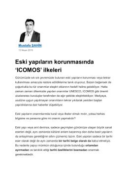 Eski yapıların korunmasında `ICOMOS` ilkeleri