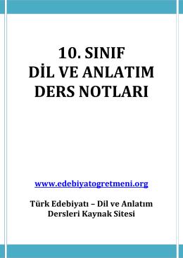 SÖZCÜKTE ANLAM TESTLERİ – www.edebiyatogretmeni.org