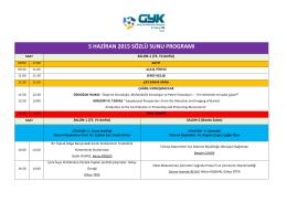5 haziran 2015 sözlü sunu programı