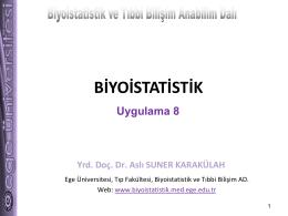 PowerPoint Sunusu - Biyoistatistik ve Tıbbi Bilişim Anabilim Dalı