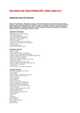 bilgisayar işletmenliği (meb onaylı)