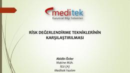 Risk Değerlendirme Tekniklerinin Karşılaştırılması
