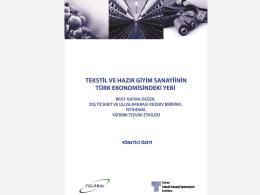 TTSİS-Tekstil ve Hazır Giyim Sanayiinin Türk Ekonomisindeki Yeri