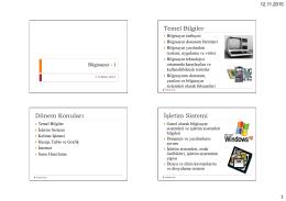 Dönem Konuları Temel Bilgiler İşletim Sistemi