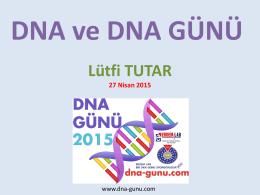 PowerPoint Sunusu - DNA Günü DNA Day