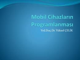 Mobil_Cihazlarin_Programlanmas Hakkında Temel Bilgile Sunu indir