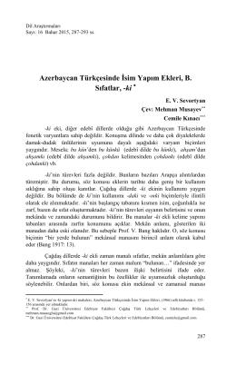 Azerbaycan Türkçesinde İsim Yapım Ekleri, B. Sıfatlar, -ki *