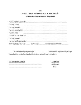 isim formu - Yüksek Komiserler Kurulu