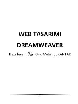WEB TASARIMI DREAMWEAVER