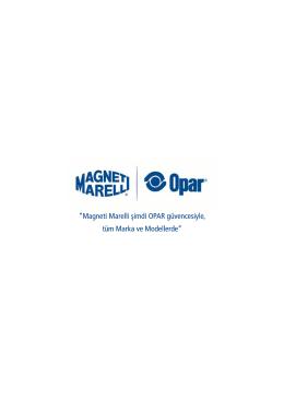 Magneti Marelli şimdi OPAR güvencesiyle, tüm Marka ve Modellerde