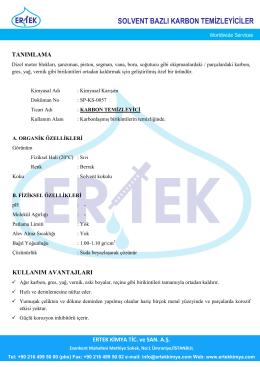 SOLVENT BAZLI KARBON TEMİZLEYİCİLER