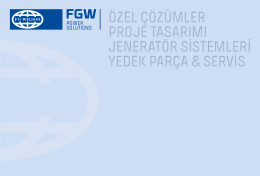 Kurumsal Kataloğumuz - FG Wilson Jeneratör