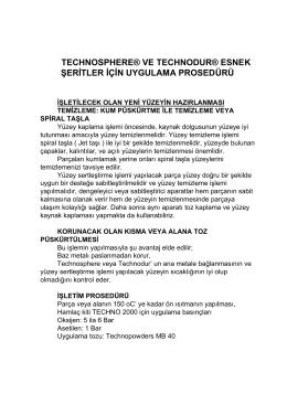 technosphere® ve technodur® esnek şeritler için uygulama prosedürü