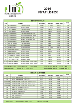Elma Katalog Fiyat Listesi isimli