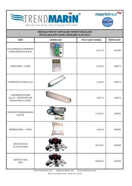dessalator su yapıcıları yedek parçaları fiyatlara