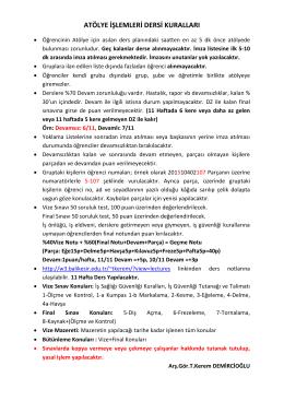ders kuralları 2015-2016