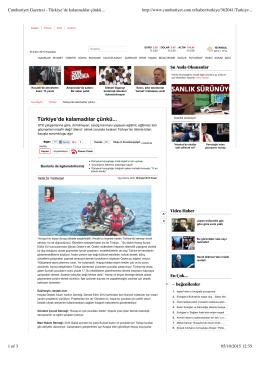 Cumhuriyet Gazetesi - Türkiye`de kalamadılar çünkü