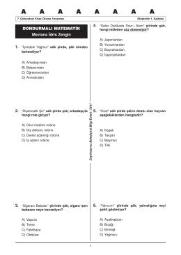 1. grup ilköğretim soru kitapçığı