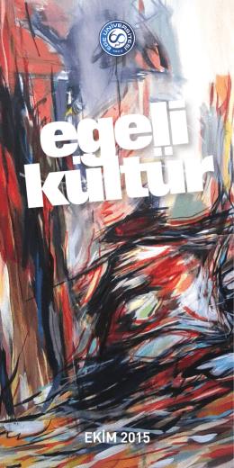 Egeli Kültür Ekim Ayı Programı - Sağlık Kültür ve Spor Daire Başkanlığı