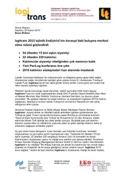 logitrans 2015 Sonuç Raporu