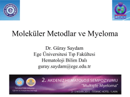 Dr. Güray Saydam - 2. Akdeniz Hematoloji Sempozyumu