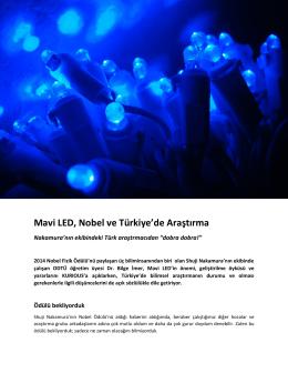 Mavi LED, Nobel ve Türkiye`de Araştırma