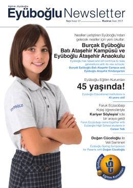 030 NEWSLETTER 43.indd - Eyüboğlu Eğitim Kurumları