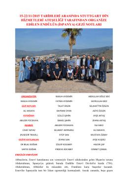 endülüs gezi notları - stuttgart din hizmetleri ataşeliği