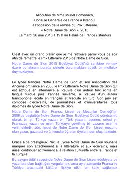 2-Discours Muriel Domenach Final - Consulat général de France à