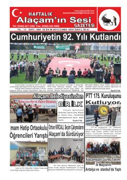 30 Ekim 2015 Sayı : 660