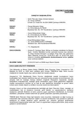 ankara büyükşehir belediyesi - TMMOB Ziraat Mühendisleri Odası