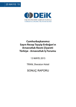 Arnavutluk Sonuç Raporu