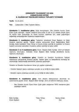 2015genel_kurul_tutanak - Yıldızkent 319 Ada Çobanyıldızı Sitesi