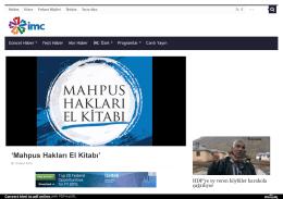 `Mahpus Hakları El Kitabı` - İMC TV