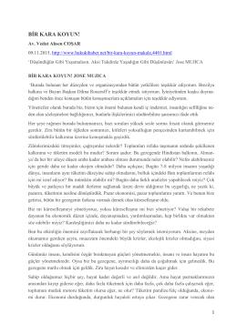 Bir Kara Koyun! Jose Mujica - Vedat Ahsen Coşar