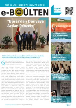 Mart 2015 - Bursa Orhangazi Üniversitesi