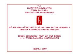 Ateş Yazısı - KimyaEgitimi.org