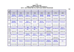7/B Sınıfı Ders Programı
