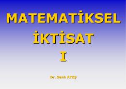 Matematiksel İktisat II Ders Notları